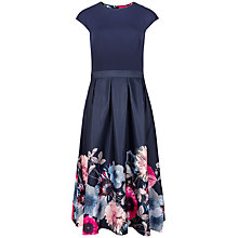 Buy Ted Baker Neon Poppy Full Skirt Dress, Navy Online at johnlewis.com