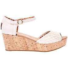 Buy TOMS Platform Wedge Heeled Sandals Online at johnlewis.com