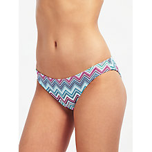 Buy John Lewis Fontanelle Zig Zag Classic Bikini Briefs, Blue/Pink Online at johnlewis.com