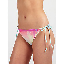Buy John Lewis S'Aguila Sunset Tie Bikini Briefs, Pink Multi Online at johnlewis.com