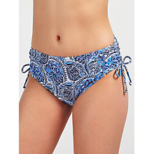 Buy John Lewis Zineb Paisley Ruched Shorts, Blue Online at johnlewis.com