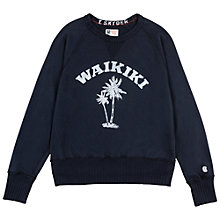 Buy Champion + Todd Snyder Waikiki Print Sweatshirt, Original Navy Online at johnlewis.com