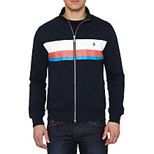 Buy Original Penguin Stripe Track Jacket, Dark Sapphire Online at johnlewis.com
