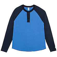 Buy Champion + Todd Snyder Colour Block Henley Long Sleeve T-Shirt, Washed Royal/Original Navy Online at johnlewis.com