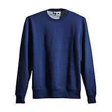 Buy Levi's Made & Crafted Sweatshirt, Washed Blue Indigo Online at johnlewis.com