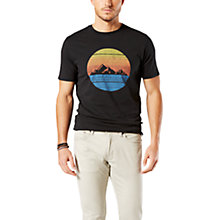 Buy Dockers Catalina Circle Graphic Print T-Shirt, Black Online at johnlewis.com