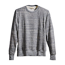 Buy Levi's Made & Crafted Crew Neck Jersey Top, Grey Online at johnlewis.com