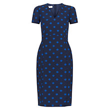 Buy Hobbs Meredith Dress, Electric Blue/Navy Online at johnlewis.com