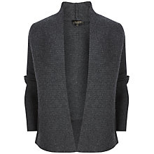 Buy Ted Baker Florii Rib Detail Cashmere Wrap Cardigan, Graphite Online at johnlewis.com