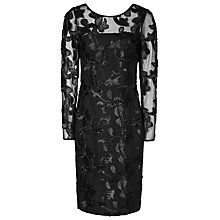 Buy Reiss Elery Embroidered Dress, Black Online at johnlewis.com