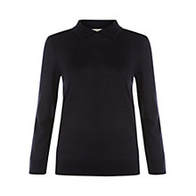 Buy Hobbs Layla Merino Wool Jumper, Navy Online at johnlewis.com