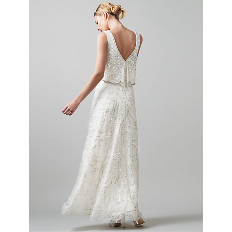 Buy phase eight bridal joanna sequin dress ivory john lewis for John lewis wedding dresses
