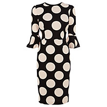 Buy Coast Maralynn Spot Dress, Monochrome Online at johnlewis.com