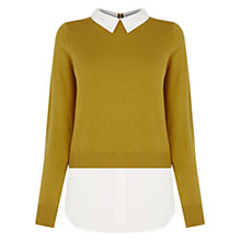 Buy Oasis Mono 2 in 1 Shirt Tails, Ochre Online at johnlewis.com