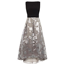 Buy Coast Roccobella Dress, Silver/Black Online at johnlewis.com