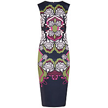 Buy Ted Baker Zyta Surreal Tapestry Midi Dress, Midnight/Multi Online at johnlewis.com