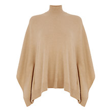 Buy Oasis Lola Poncho, Camel Online at johnlewis.com
