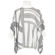 Buy Ted Baker Maxxie Monochrome Checked Roll Neck Jumper, Natural/Black Online at johnlewis.com