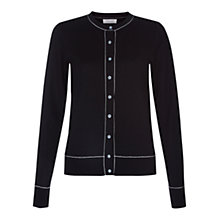 Buy Hobbs Adele Cardigan, Black Ivory Online at johnlewis.com