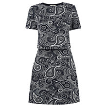 Buy Oasis Paisley Jacquard Dress, Navy Online at johnlewis.com