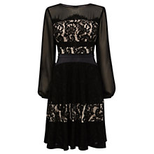 Buy Coast Delphina Lace Dress, Monochrome Online at johnlewis.com