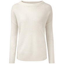 Buy Pure Collection Kersley Gassato Cashmere Bardot Jumper, Soft White Online at johnlewis.com