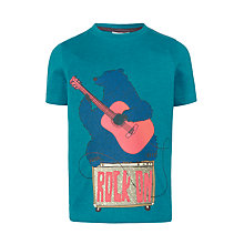 Buy John Lewis Boys' Guitar Bear Print T-Shirt, Blue Online at johnlewis.com