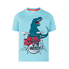 Buy John Lewis Boys' Dinosaur Drummer T-Shirt, Blue Online at johnlewis.com