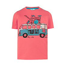 Buy John Lewis Boys' Festival Tour Bus T-Shirt, Red Online at johnlewis.com