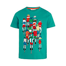 Buy John Lewis Boys' Cyclists T-Shirt, Turquoise Online at johnlewis.com
