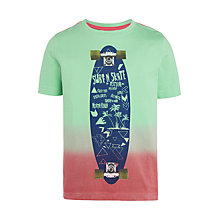 Buy John Lewis Boys' Festival Skate T-Shirt, Green Online at johnlewis.com