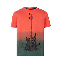 Buy John Lewis Boys' Guitar Print T-Shirt, Red Online at johnlewis.com