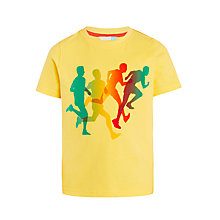 Buy John Lewis Boys' Runners T-Shirt, Yellow Online at johnlewis.com