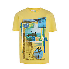 Buy John Lewis Boys' Brazil Print T-Shirt, Yellow Online at johnlewis.com