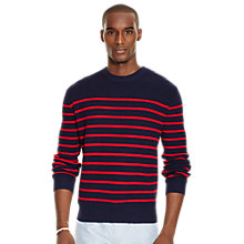 Buy Polo Ralph Lauren Stripe Sweater, Navy/Red Online at johnlewis.com