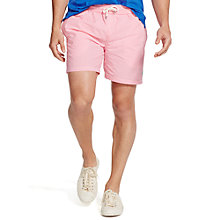 Buy Polo Ralph Lauren Traveller Swim Shorts, Pink/White Online at johnlewis.com