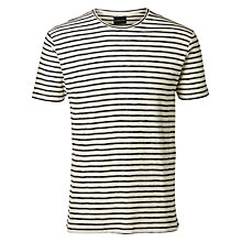 Buy Selected Homme Shx Structured Short Sleeve T-Shirt, White Online at johnlewis.com