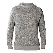 Buy Selected Homme Bibi Crew Neck Sweatshirt, Light Grey Melange Online at johnlewis.com