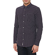 Buy Original Penguin Surge Long Sleeve Shirt, Dark Sapphire Online at johnlewis.com