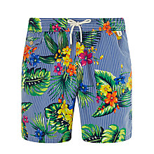 Buy Polo Ralph Lauren Traveller Swim Shorts, Floral Stripe Print Online at johnlewis.com