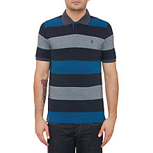 Buy Original Penguin Tenisi Stripe Polo Shirt, Dark Sapphire Online at johnlewis.com