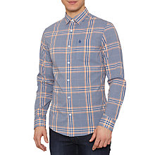 Buy Original Penguin Long Sleeve Check Shirt, True Blue Online at johnlewis.com