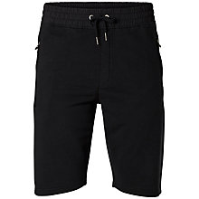 Buy Selected Homme Shx Palm Print Sweat Shorts, Black Online at johnlewis.com