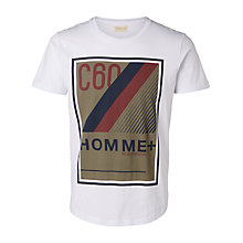 Buy Selected Homme Short Sleeve Graphic T-Shirt, White Online at johnlewis.com