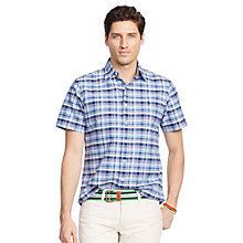 Buy Polo Ralph Lauren Short Sleeve Checked Shirt, Liberty/Navy Online at johnlewis.com