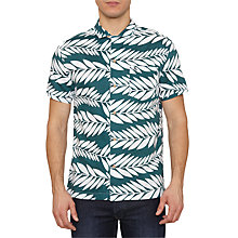 Buy Original Penguin Med Short Sleeve Shirt, Green/White Online at johnlewis.com
