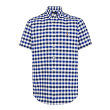 Buy Polo Ralph Lauren Short Sleeve Check Shirt, Royal/Navy Online at johnlewis.com