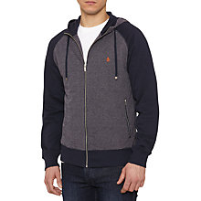 Buy Original Penguin Maple Zip Through Hoodie, Dark Sapphire/Grey Online at johnlewis.com