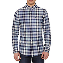Buy Original Penguin Dorsey Madras Long Sleeve Shirt, Sapphire Online at johnlewis.com