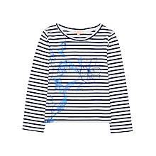 Buy Jigsaw Girls' Floral Stripe T-Shirt Online at johnlewis.com